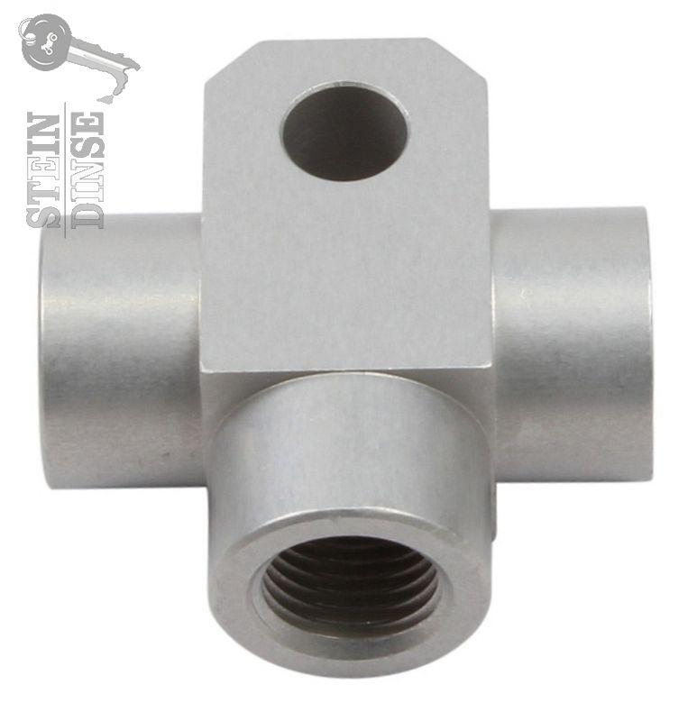 Bremsverteiler 3-Wege Alu SBT M10x1 silber - Stein-Dinse Online-Shop