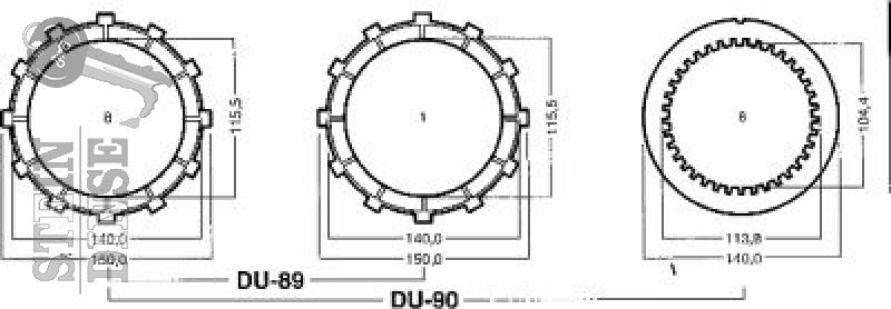 Duc kit frizione bagno d\'olio Ad 600/750SS dal\'92 - Stein-Dinse ...