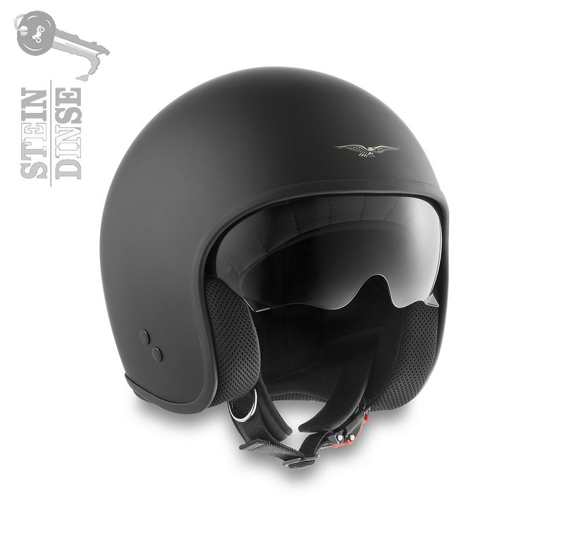 moto guzzi helm black logo xl stein dinse online shop. Black Bedroom Furniture Sets. Home Design Ideas