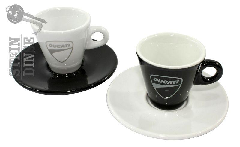 nml duc espressotassen set company 6er schwarz wei stein dinse online shop. Black Bedroom Furniture Sets. Home Design Ideas